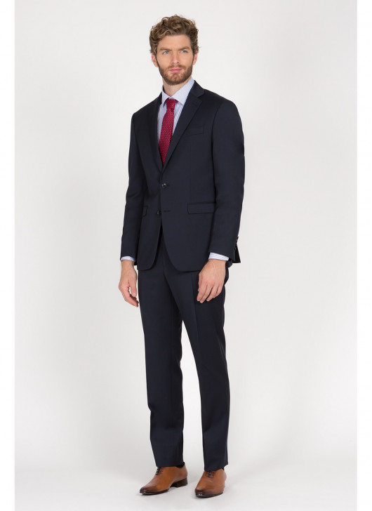 Costume regular fit Lanificio F.LLI Cerruti DAL 1881 - 88 - Bleu marine