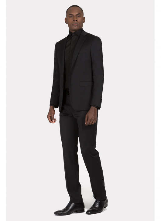 Regular fit suit Lanificio F.LLI Cerruti DAL 1881 - 01 - Black