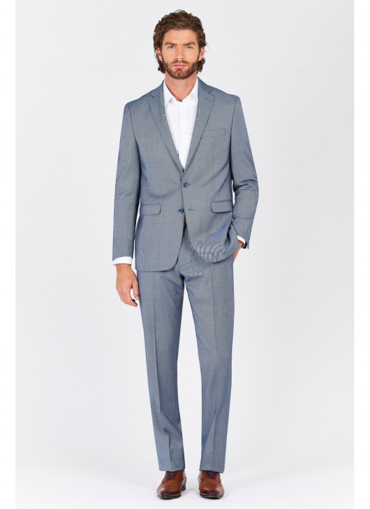 Regular fit suit Lanificio F.ILLI Cerruti DAL 1881 - 86 - Slate Blue
