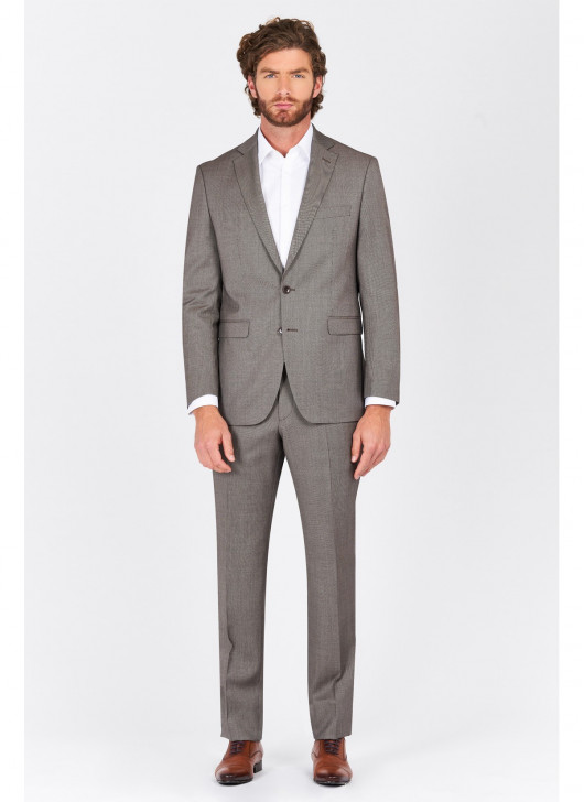 Regular fit suit Lanificio F.ILLI Cerruti DAL 1881 - 30 - Greige