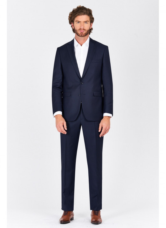Costume regular fit Lanificio F.ILLI Cerruti DAL 1881 - 88 - Bleu marine
