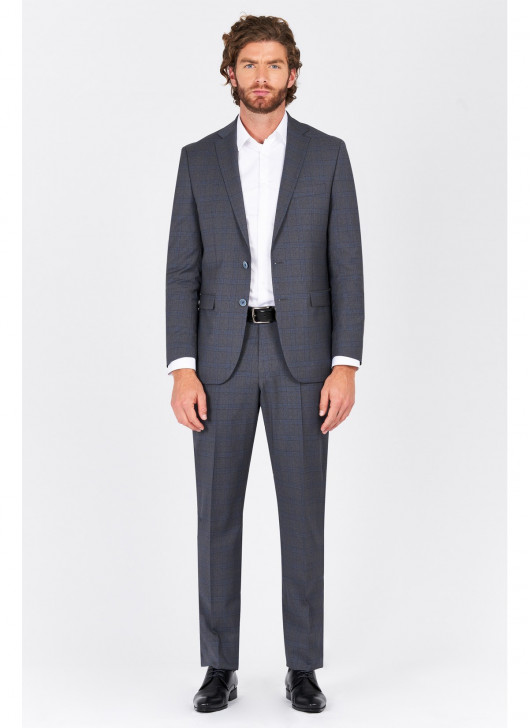 Regular fit suit Lanificio F.ILLI Cerruti DAL 1881 - 24 - Anthracite Grey