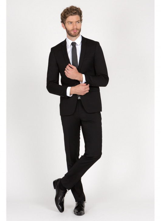 Slim fit suit Lanificio F.LLI Cerruti DAL 1881 - 01 - Black