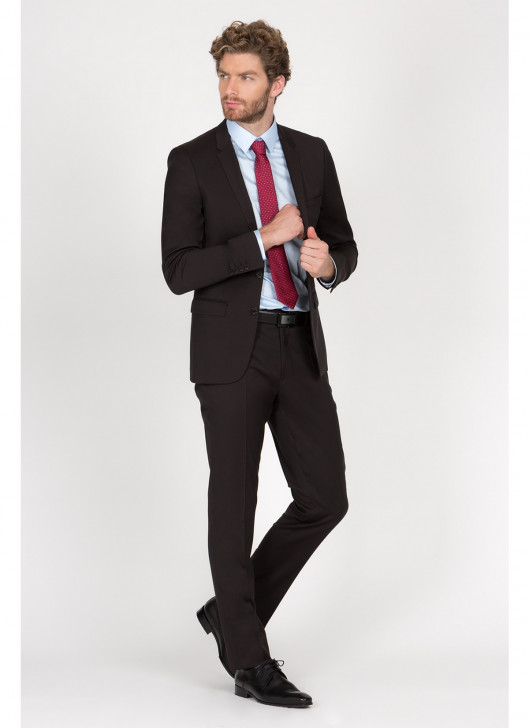 Costume slim fit Lanificio F.LLI Cerruti DAL 1881 - 35 - Marron