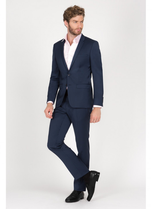 Slim fit suit Lanificio F.LLI Cerruti DAL 1881 - 87 - Petrol Blue