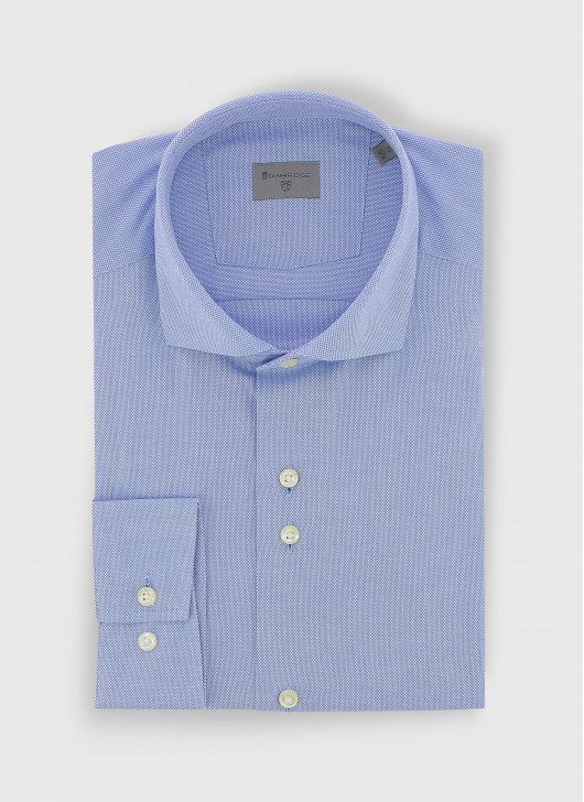 Slim fit shirt en tissus Oxford - 81 - Sky Blue