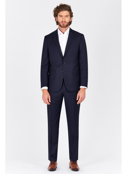 Regular fit suit Lanificio F.ILLI Cerruti DAL 1881 - 88 - Navy Blue