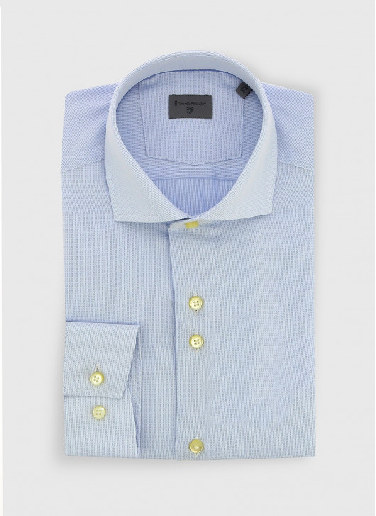 Italian collar slim fit Stanbridge shirt - 81 - Sky Blue