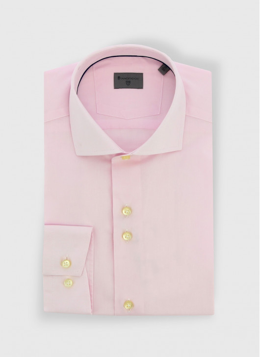 Italian collar slim fit Stanbridge shirt - 62 - Pastel pink