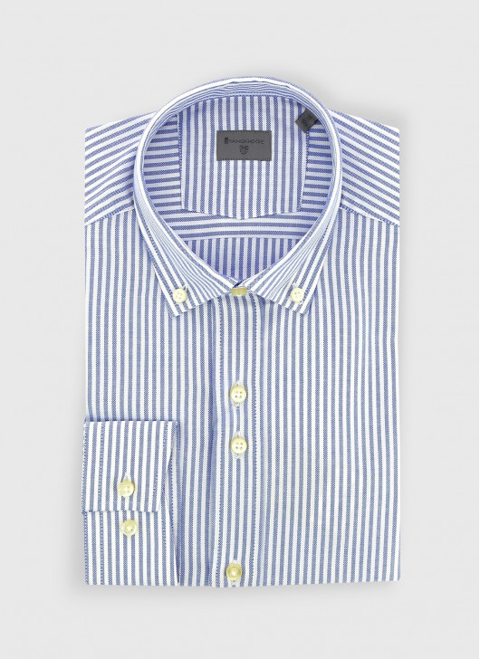Buttoned collar slim fit Stanbridge shirt - 80 - Pastel Blue