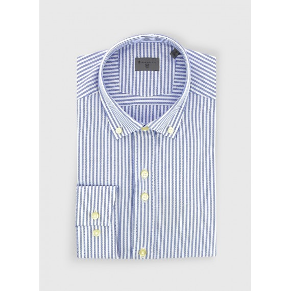 Buttoned collar slim fit Stanbridge shirt