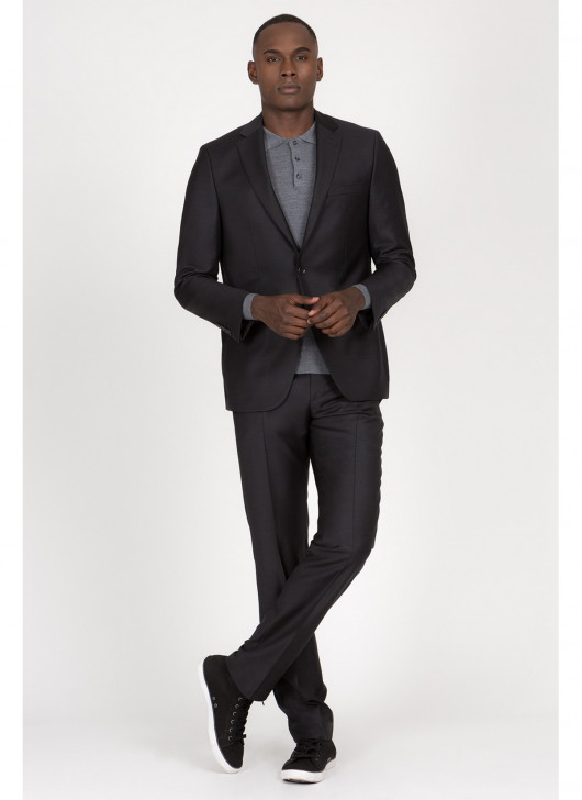 Costume regular Fit Cloth Ermenegildo Zegna - - 24 - Gris anthracite