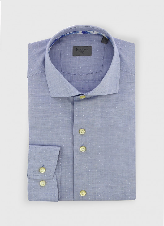 Italian collar slim fit Stanbridge shirt - 80 - Pastel Blue