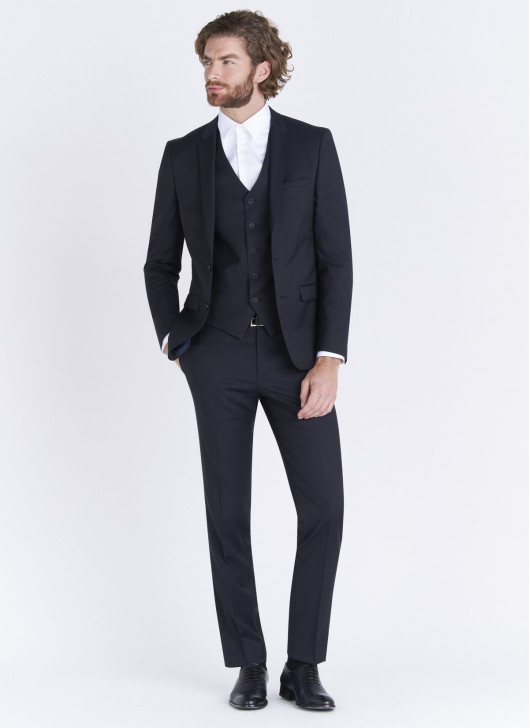 Slim fit suit Lanificio F.LLI Cerruti DAL 1881 - 88 - Navy Blue
