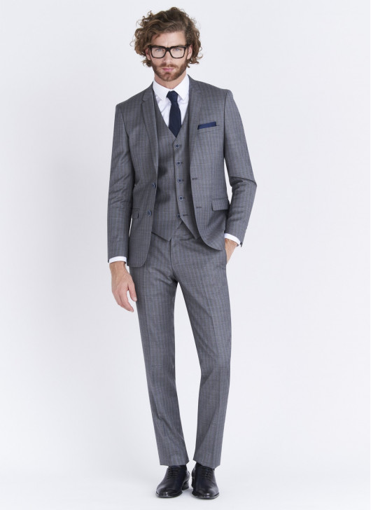 Slim fit suit Lanificio F.LLI Cerruti DAL 1881 - 22 - Medium Grey