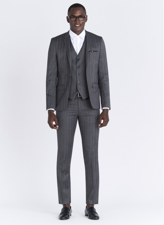 Slim fit suit Lanificio F.LLI Cerruti DAL 1881 - 24 - Anthracite Grey