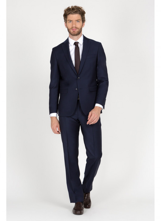 Regular Fit Suit Cloth Ermenegildo Zegna - - 88 - Navy Blue