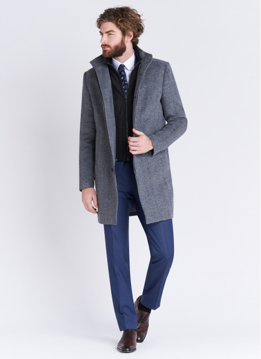 High neck Coat Emmanuelle Khanh - 23 - Dark Grey