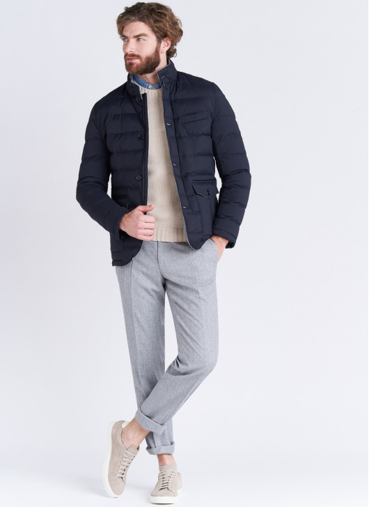 High neck Down jacket Emmanuelle Khanh - 88 - Navy Blue