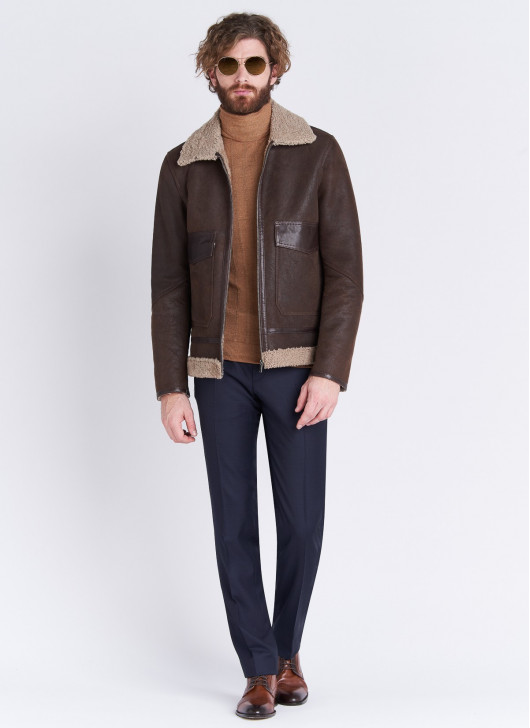 Sheepskin bomber jacket Emmanuelle Khanh - 34 - Chocolate