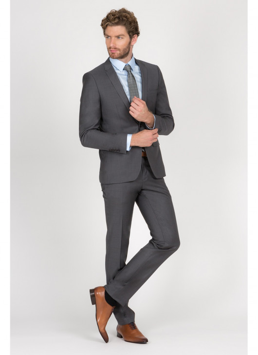 Costume Slim Fit Cloth Ermenegildo Zegna  - 23 - Gris foncé