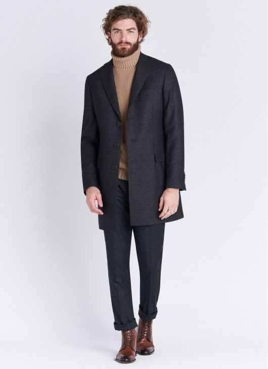 Notch lapel coat Emmanuelle Khanh - 24 - Anthracite Grey