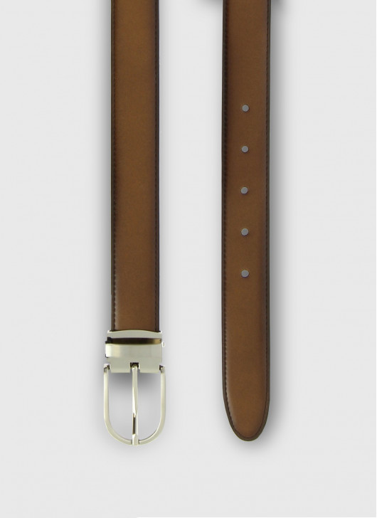 Leather belt Stanbridge - 32 - Tobacco
