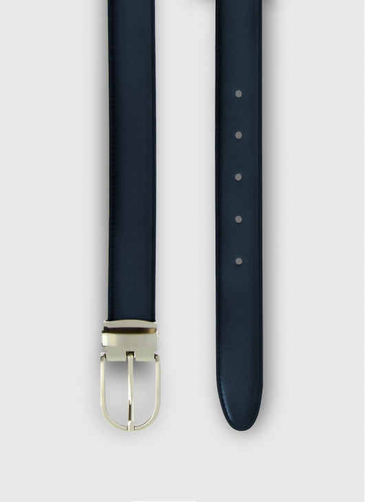 Leather belt Stanbridge - 88 - Navy Blue