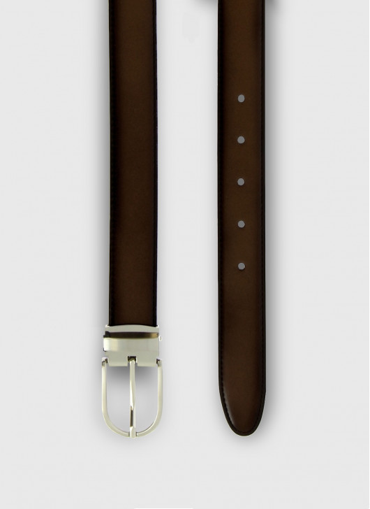 Leather belt Stanbridge - 37 - Coffee