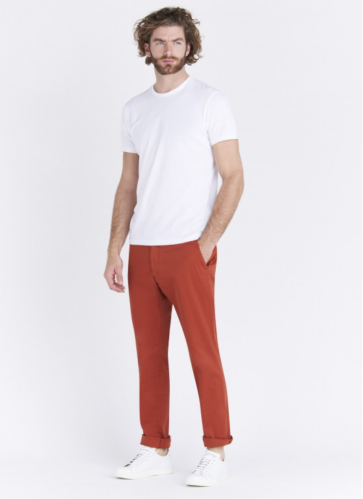 Pantalon chino Stanbridge - 51 - Rouge corail