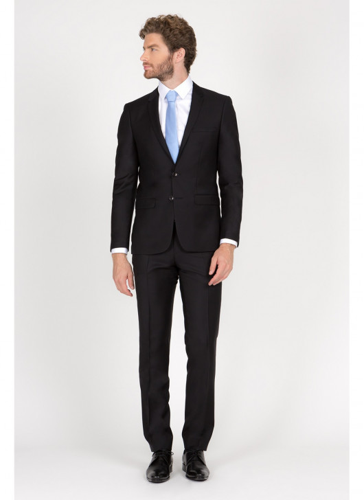 Costume Slim Fit Cloth Ermenegildo Zegna  - 01 - Noir