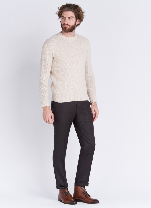 Slim fit trousers Stanbridge - 37 - Coffee