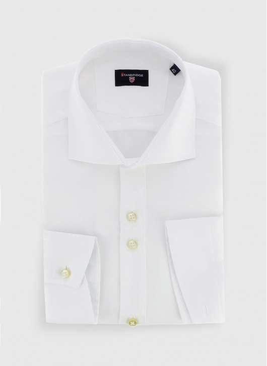 STANBRIDGE Nano care slim fit shirt - 10 - White