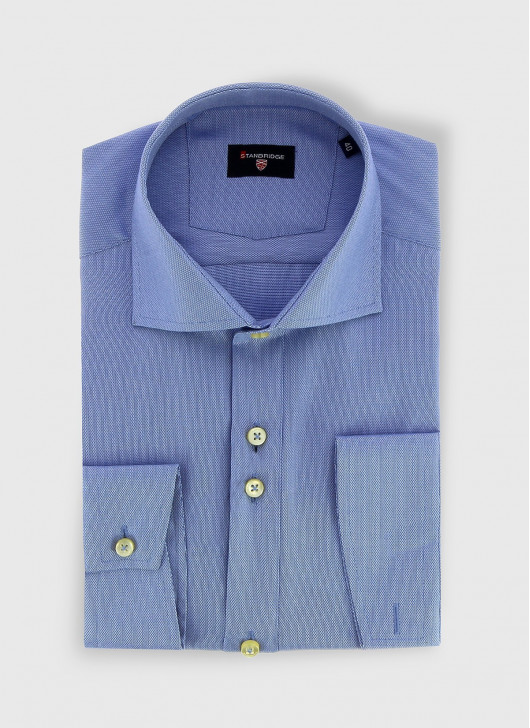 STANBRIDGE Nano care slim fit shirt - 83 - Blue