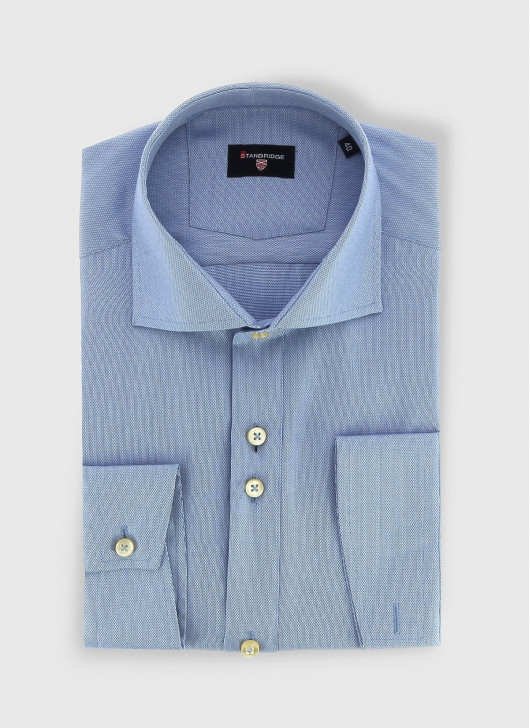 STANBRIDGE Nano care slim fit shirt - 81 - Sky Blue