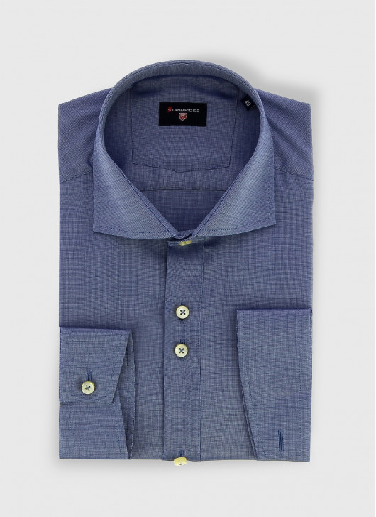STANBRIDGE Nano care slim fit shirt - 88 - Navy Blue