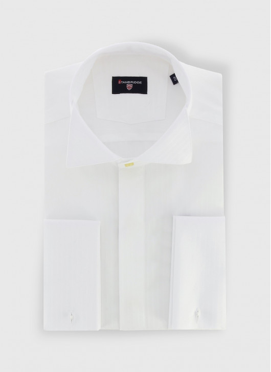 STANBRIDGE wing collar slim fit shirt - 10 - White