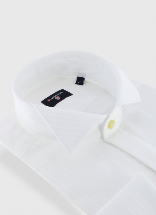 STANBRIDGE wing collar slim fit shirt
