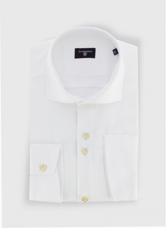 STANBRIDGE cutaway collar slim fit shirt - 10 - White