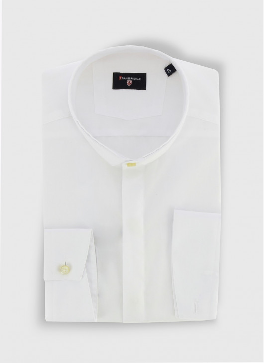 STANBRIDGE mao collar slim fit shirt - 10 - White