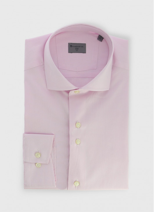 Italian collar slim shirt Stanbridge - 62 - Pastel pink