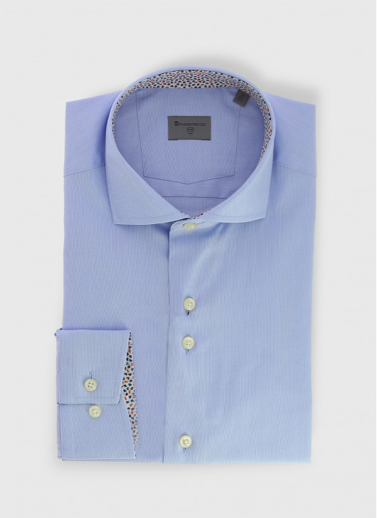 Italian collar slim shirt Stanbridge - 51 - Coral Red