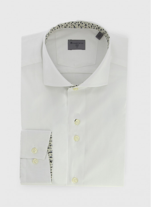 Italian collar slim shirt Stanbridge - 12 - Ivory
