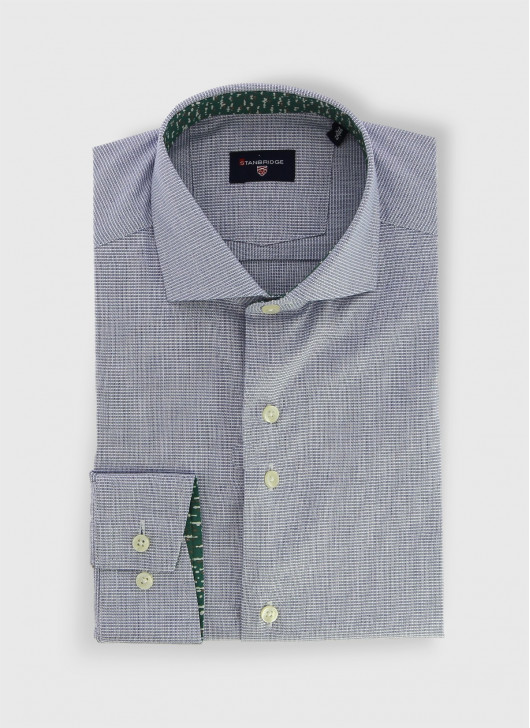 Italian collar slim shirt Stanbridge - 94 - Bouteille