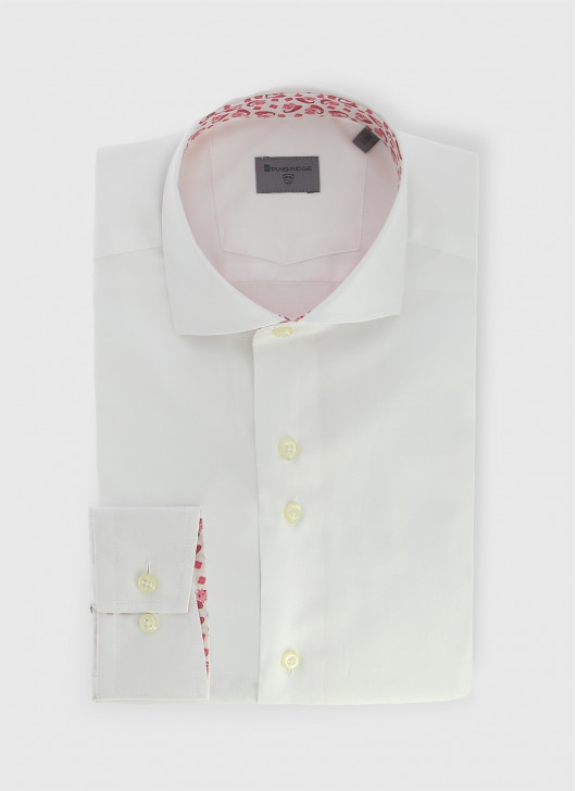 Italian collar slim shirt Stanbridge - 10 - White