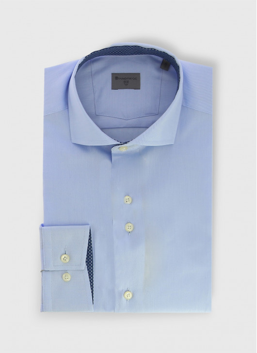 Italian collar slim shirt Stanbridge - 89 - Midnight Blue