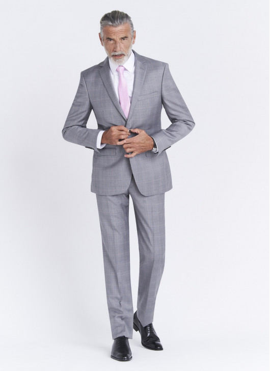 Costume regular fit Cloth Dormeuil - 21 - Gris perle