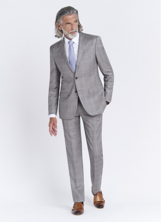 Regular fit suit by Cloth Dormeuil - 21 - Pearl Grey
