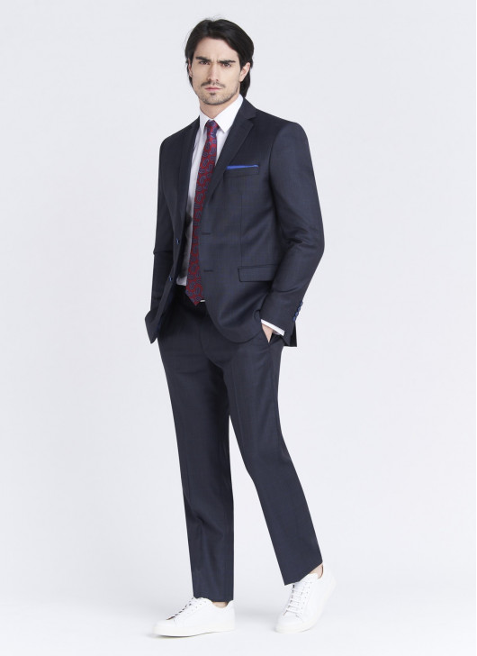 Regular fit suit by Cloth Dormeuil - 88 - Navy Blue