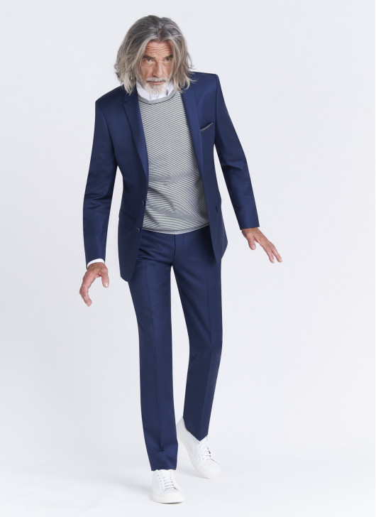 Slim fit suit Lanificio F.LLI Cerruti DAL 1881 - 89 - Midnight Blue